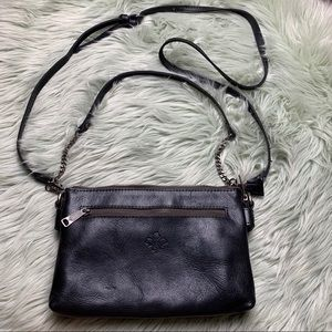 Patricia Nash Black Leather Crossbody/Purse